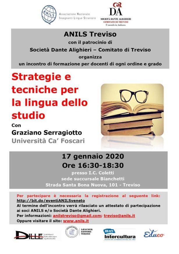 17.01.20 | Incontro di formazione: Strategie e tecniche per la lingua dello studio