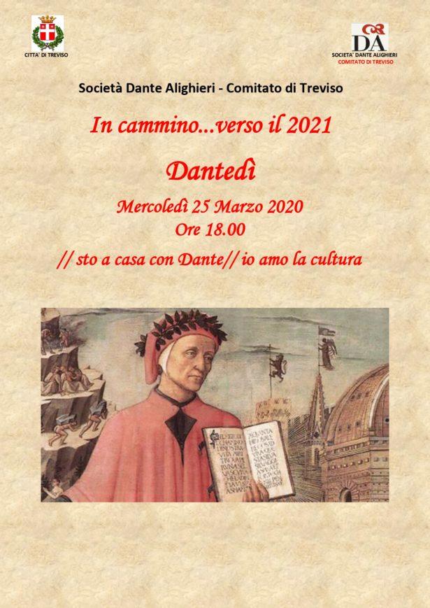 25.03.20 | DANTEDI'-Letture di versi della Commedia dalla finestra-//stoacasacondante// ioamolacultura