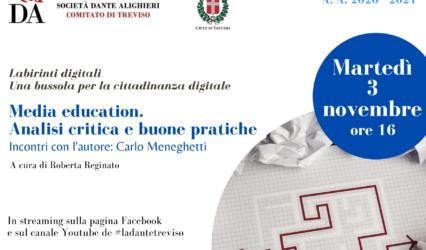 03.11.20 | Media Education. Analisi critica e buone pratiche. Incontri con l'autore:Carlo Meneghetti