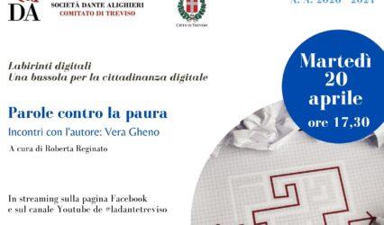 20.04.21 |Diretta fb e youtube-Le parole contro la paura con l'autrice: Vera Gheno