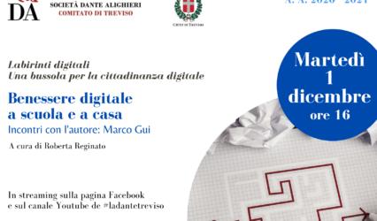 01.12.20 |Diretta fb e youtube-Benessere digitale a scuola e a casa Incontri con l'autore: Marco Gui