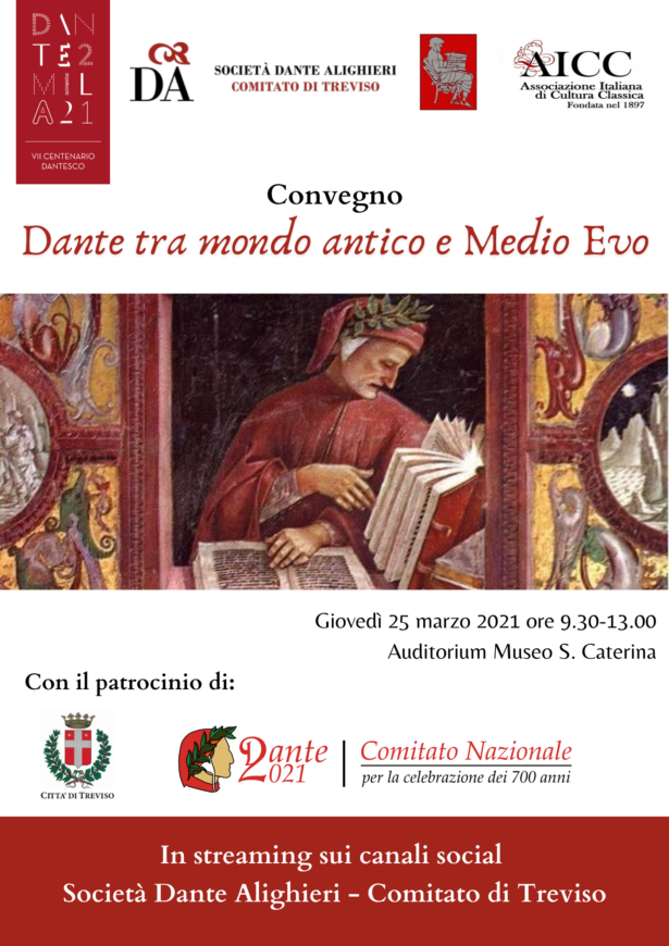 "25.03.21 | Evento online ""Dante tra Mondo antico e Medioevo""- Convegno"