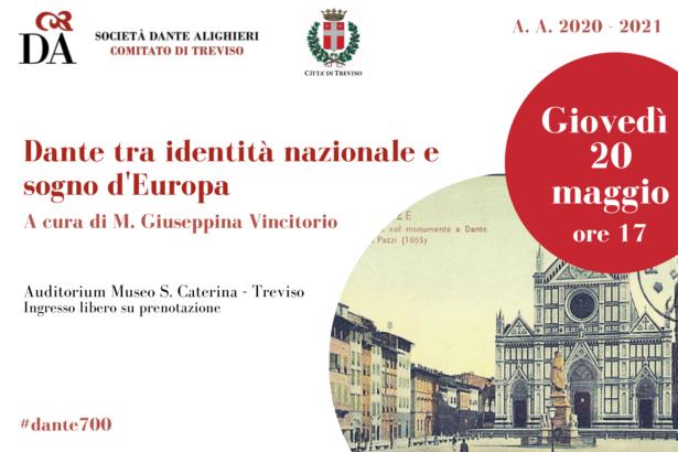 """20.05.21 """"Dante tra identità nazionale e sogno d'Europa"""" a cura di M. Giuseppina Vincitorio"""