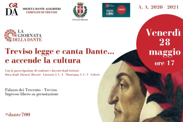 """28.05.21 """"Treviso legge e canta Dante e..accende la cultura"""" a cura di studenti e docenti degli Istituti: Duca degli Abruzzi, Riccati-Luzzatti, IC3plesso Mantegna, IC5 Coletti"""