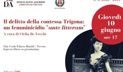"""10.06.21 """"Il delitto della contessa Trigona:un femminicidio ante litteram"""" a cura di Clelia De Vecchi"""